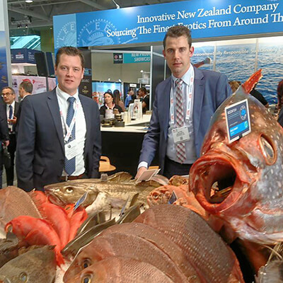 Jaap and Auke at the Boston Seafood Show